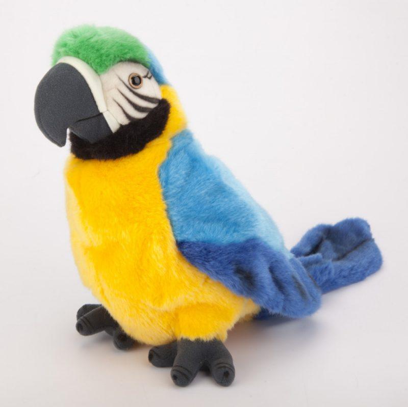 Pacynka na rękę papuga z ruchomą głową 25 cm