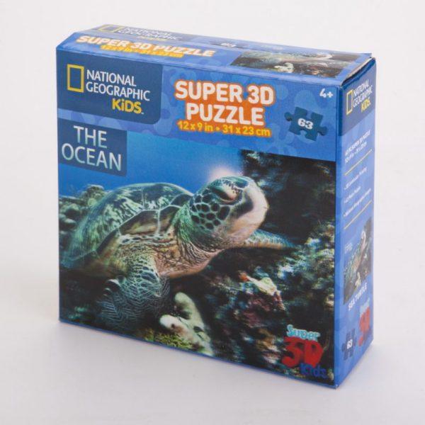 Puzzle 3D żółwie morskie 63 el