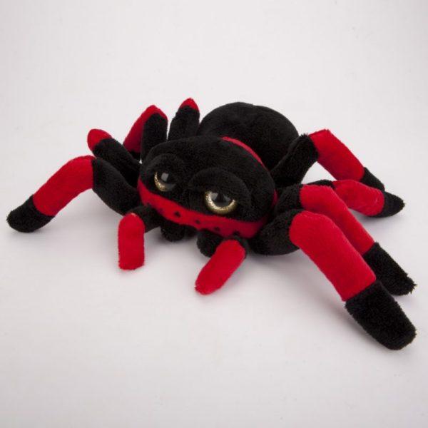 Pająk pluszowy czerwono-czarny 20 cm