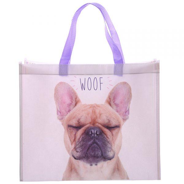 Torba na zakupy pies buldog francuski