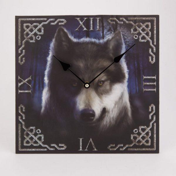 Zegar wilk niebieski