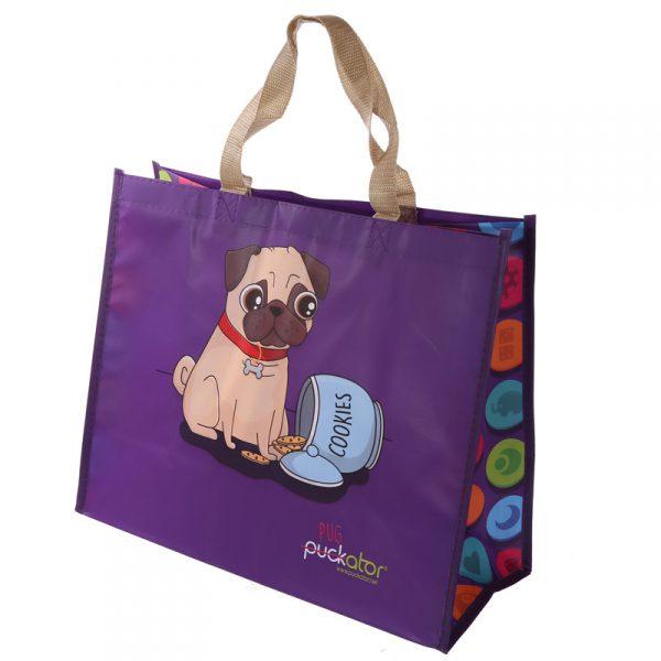 Torba na zakupy mały pies mops
