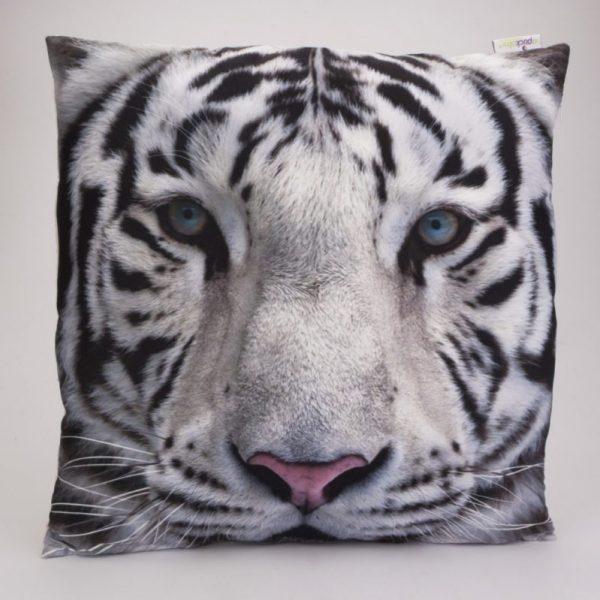 Poduszka 50x50 biały tygrys