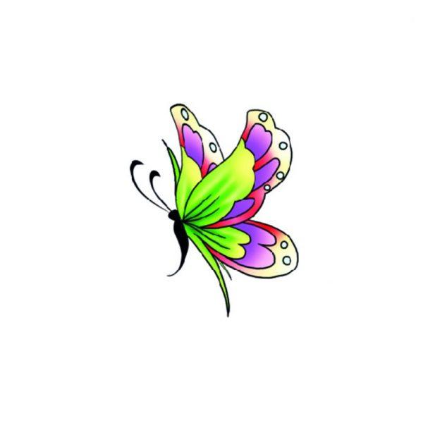 Tatuaż przyklejany motyl 15x8