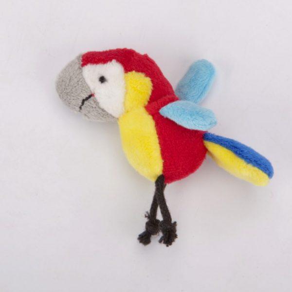 Magnes pluszowy papuga czerwona
