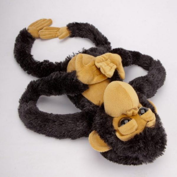 Małpa czarno-beżowa 60 cm