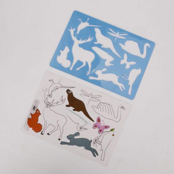 Szablon do rysowania zwierzęta leśne