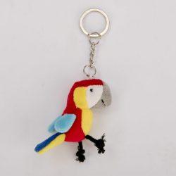 Brelok czerwona papuga