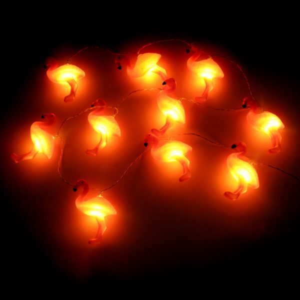Łańcuch LED flamingi