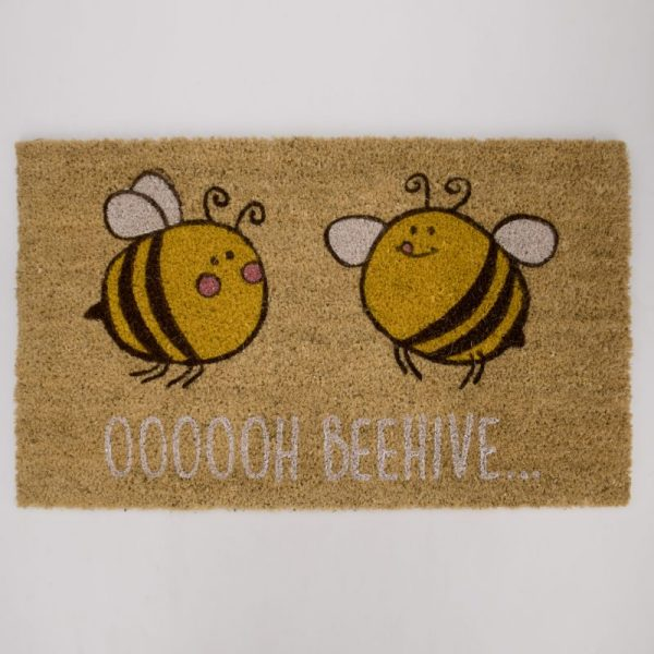 Wycieraczka z włókna kokosowego pszczoła