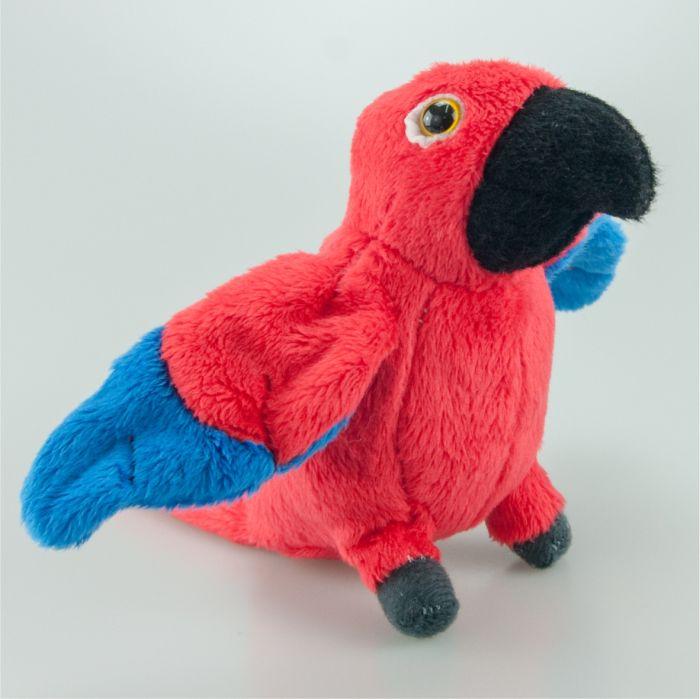 Papuga czerwona 13 cm