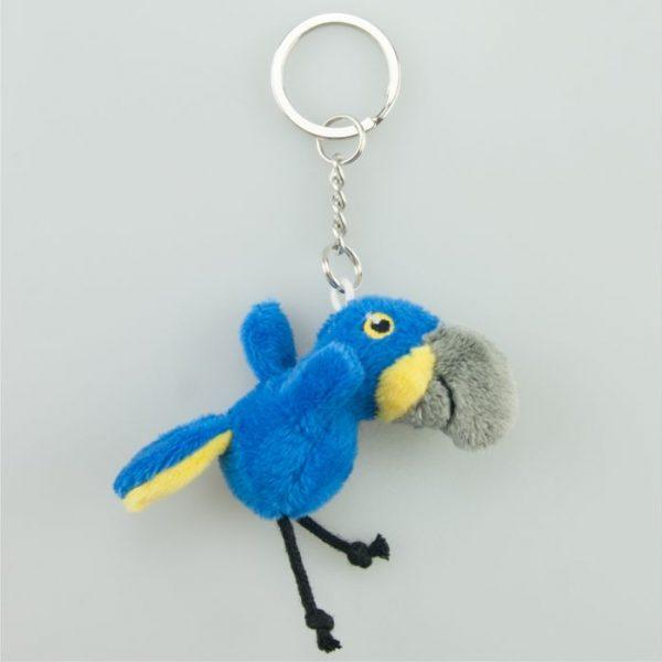 Brelok niebieska papuga