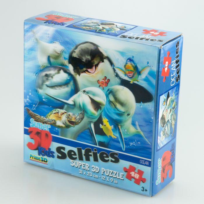 Puzzle 3D ocean selfie 48 el