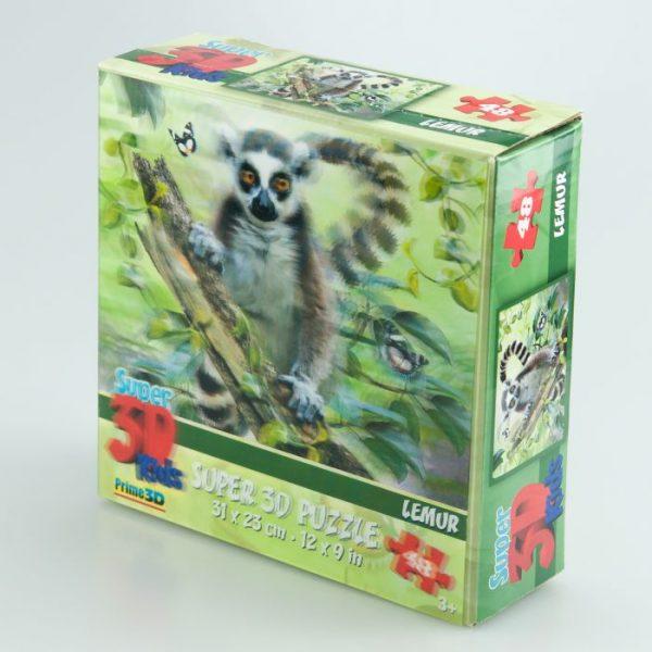 Puzzle 3D lemur 48 el