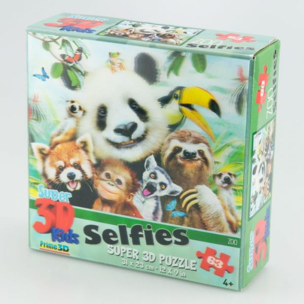 Puzzle 3D Zoo selfie 63 el