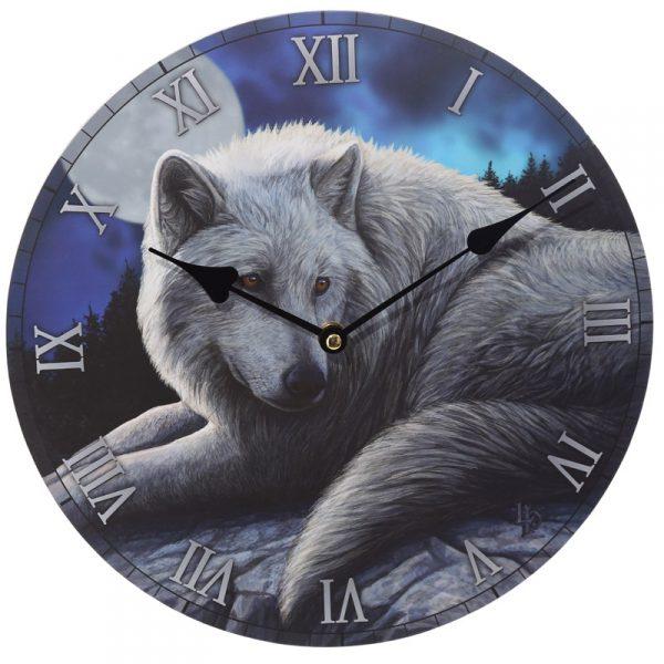 Zegar wilk średnica 30 cm