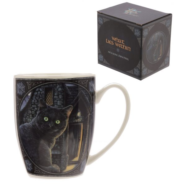 Kubek czarny kot