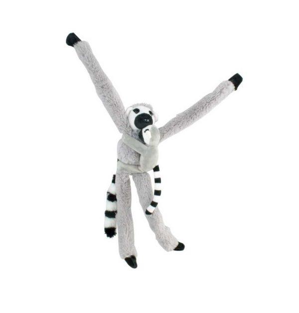 Lemur z dzieckiem 38 cm