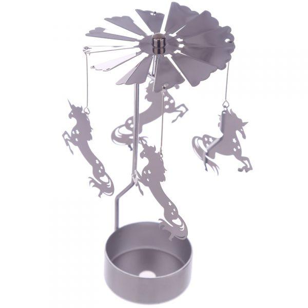 Lampion metalowy jednorożec