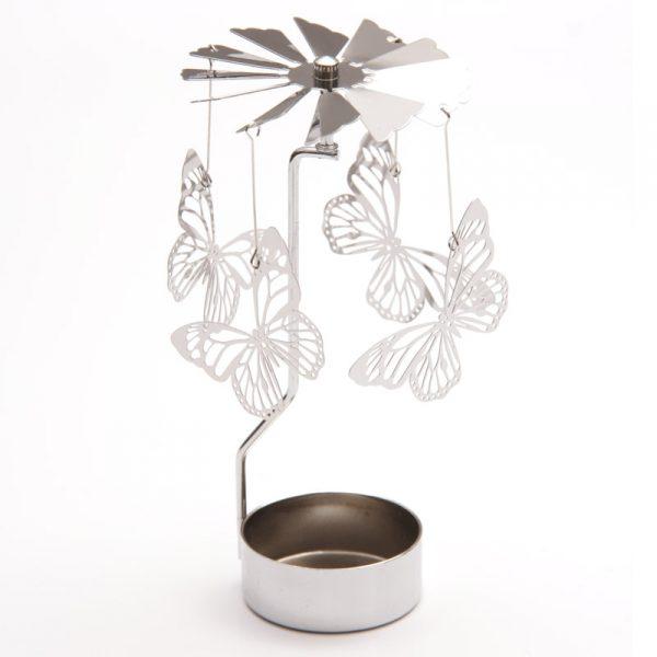 Lampion metalowy motyl
