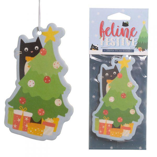Odświeżacz powietrza świąteczny kot