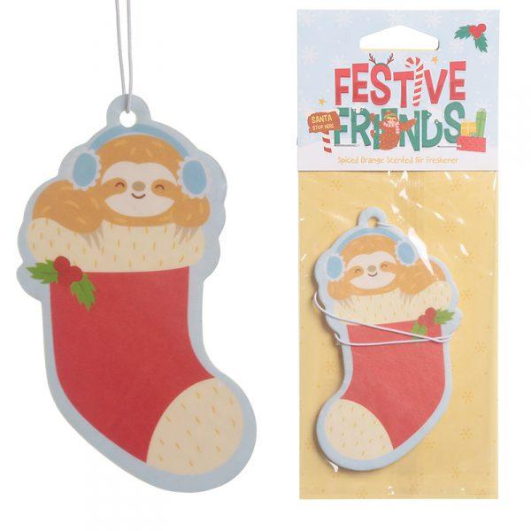 Odświeżacz powietrza świąteczny leniwiec