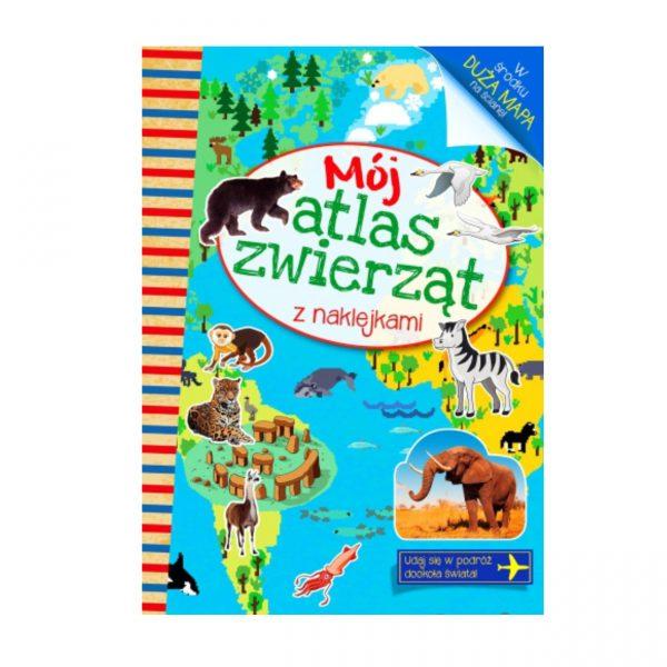 """Książka z naklejkami """" Mój atlas zwierząt"""""""