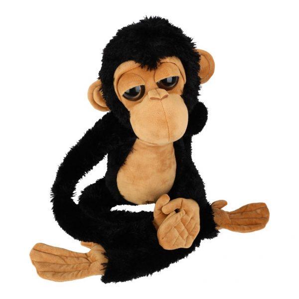 Małpa czarno-beżowa 100 cm