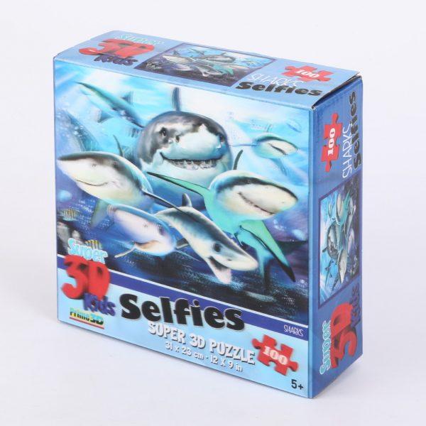 Puzzle 3D rekin selfie 100 el