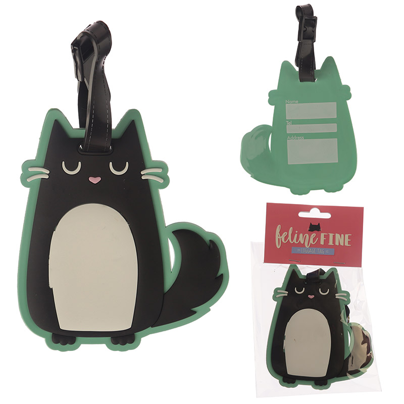Etykieta na bagaż kot