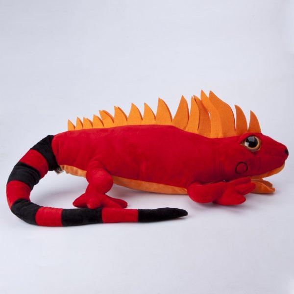 Iguana czerwona duża 100 cm