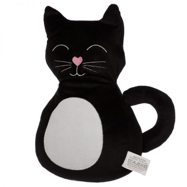 Stoper do drzwi czarny kot