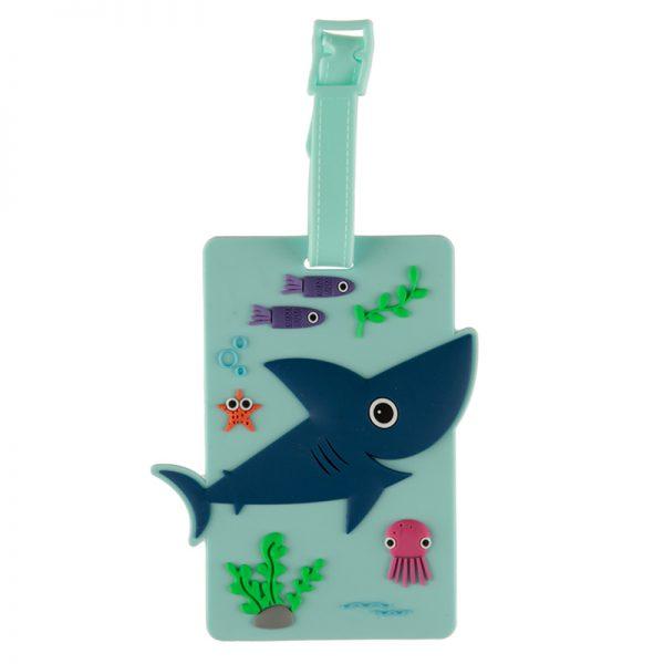 Etykieta na bagaż morskie życie