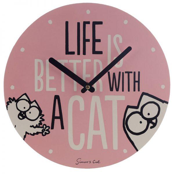 Zegar kot simona różowy