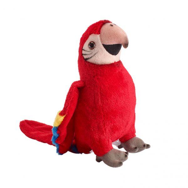 Papuga czerwona 20 cm