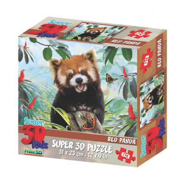 Puzzle 3D czerwona panda 63 el
