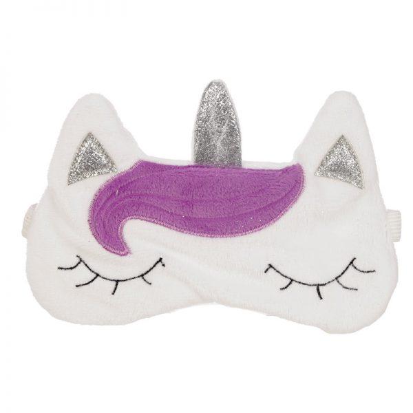 Maska do spania jednorożec
