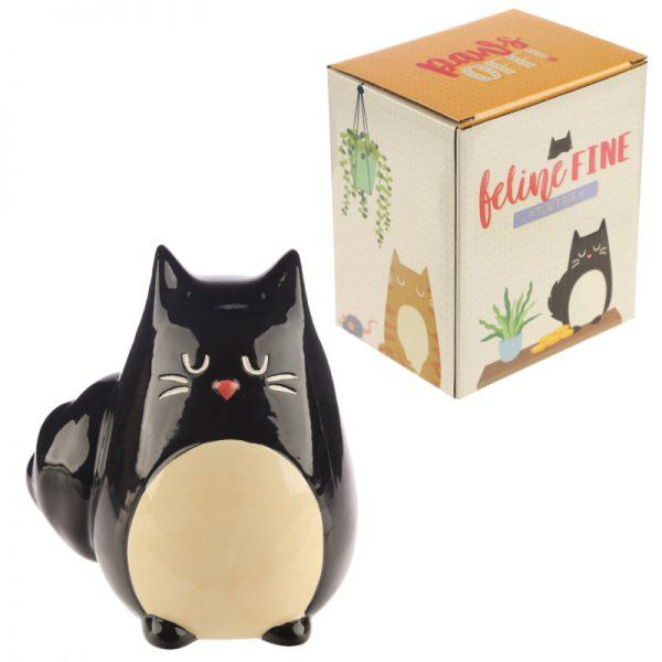 Skarbonka czarny kot