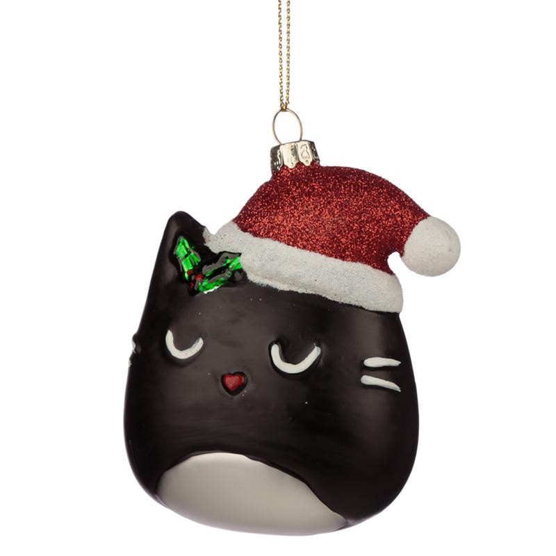 Bombka kota w czapce