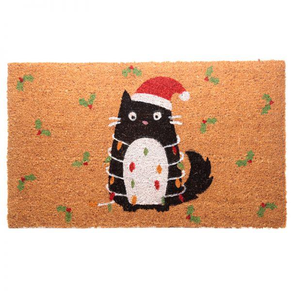 Wycieraczka świąteczny kot