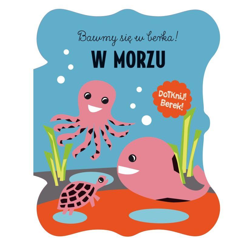 """Książka sensoryczna """"Bawimy się w berka w morzu"""""""