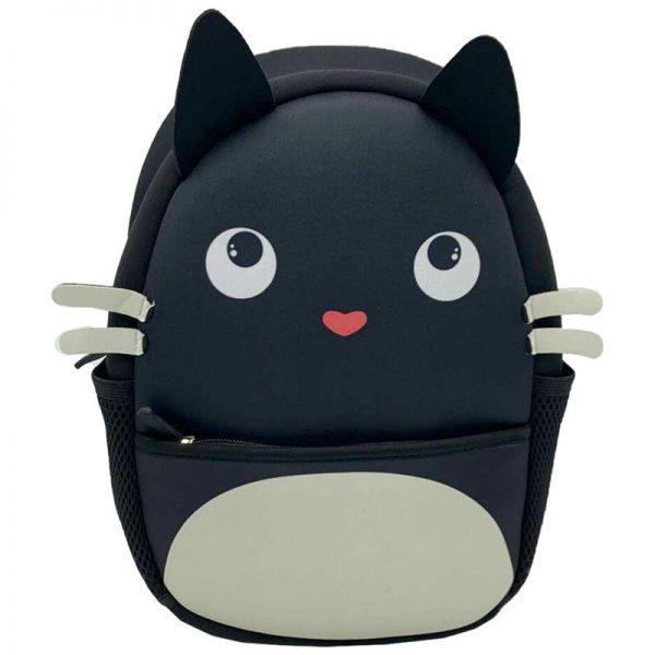 Plecak czarny kot