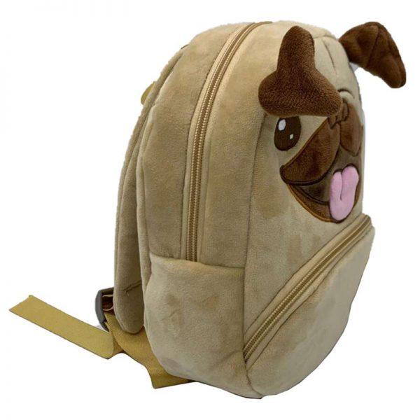 Plecak pluszowy mops