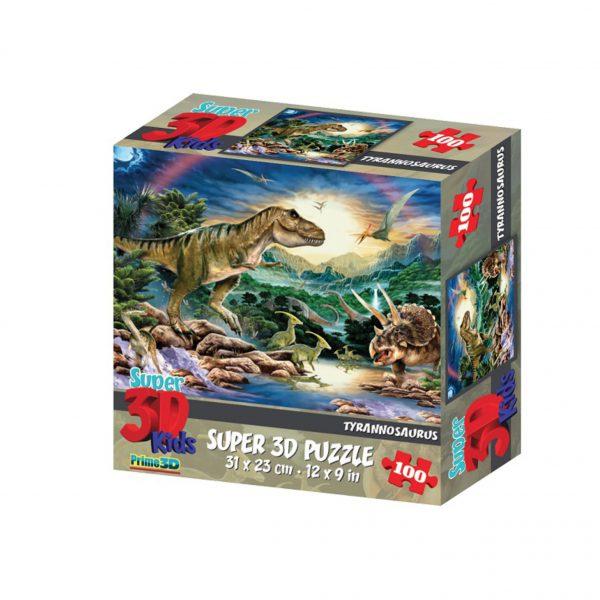 Puzzle 3D dinozaur 100 el