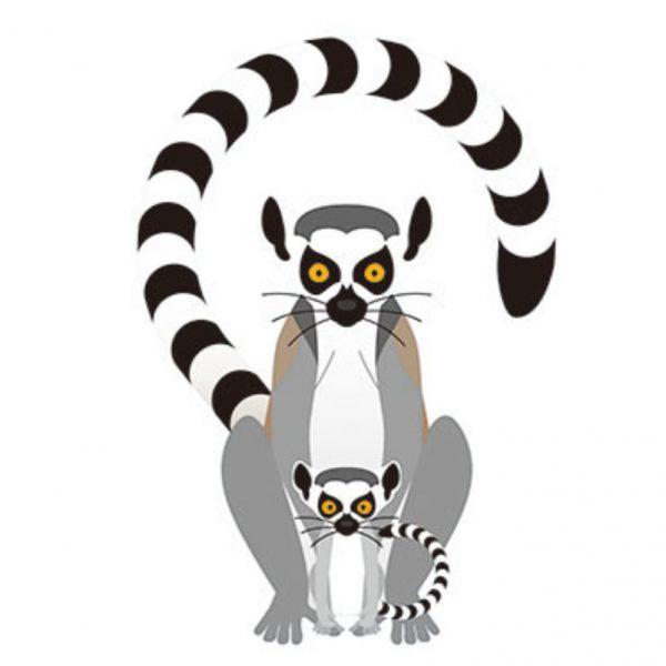 tatuaż lemur